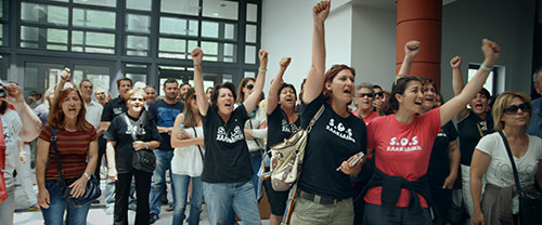 Still photo from 'This Changes Everything' - Protesters against gold mine in Halkidiki, Greece